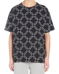 Valentino - Vltn Grid T-shirt In Black - Lyst