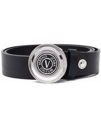 Versace Jeans Couture Cintura 71ya6f0872006of6 pelle - Nero