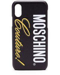 Moschino Black Plastic Cover