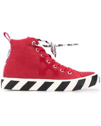Off-White c/o Virgil Abloh 'Arrows' High-Top-Sneakers - Rot