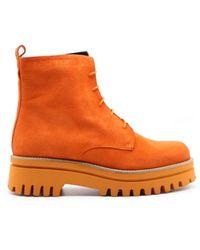 Paloma Barceló Amal Suede Ankle Boots - Orange