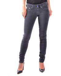 Jacob Cohen Gray Cotton Jeans