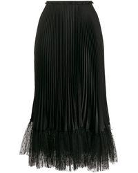 RED Valentino Black Polyamide Skirt