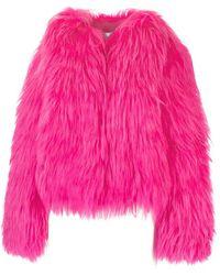 Prada Mantel Aus Ziegenhaar - Pink
