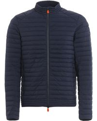 Save The Duck Blue Polyester Down Jacket