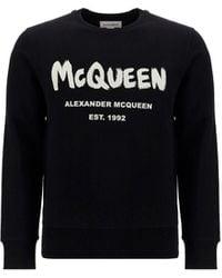 Alexander McQueen BAUMWOLLE SWEATSHIRT - Schwarz