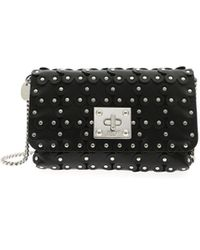 RED Valentino Black Leather Pouch