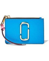 Marc Jacobs Mini The Snapshot Portemonnaie - Blau