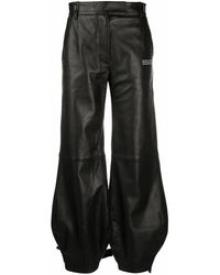 Off-White c/o Virgil Abloh Tie-up Cuffs Tapered Pants - Black