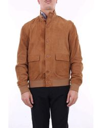 Roy Rogers Camel Leather Jacket - Brown