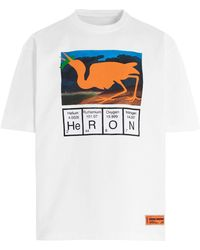 """Heron Preston T-Shirt mit """"Heron""""-Print - Weiß"""