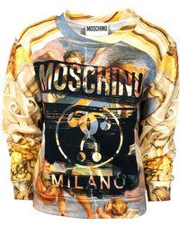 Moschino Yellow Cotton Sweatshirt