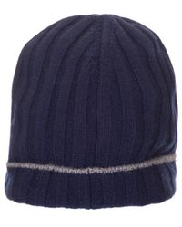 Brunello Cucinelli Blue Wool Hat