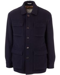 Brunello Cucinelli Cashmere Coat - Blue