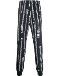 Moschino Jogginghose mit Reißverschluss-Print - Schwarz