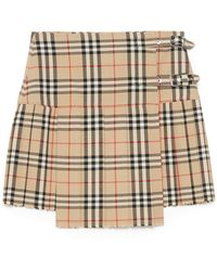 Burberry WOLLE ROCK - Natur