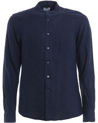 Aspesi Blue Linen Shirt