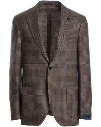 Lardini Brown Wool Blazer