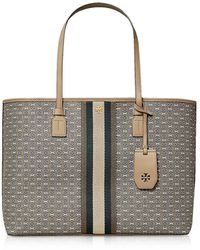 Tory Burch Coated Canvas Gemini Link Tote - Gray