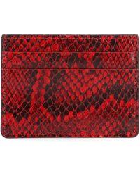 Giuseppe Zanotti Red Leather Card Holder