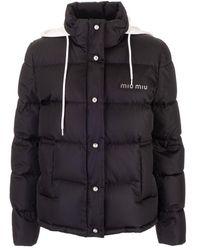 Miu Miu Polyamide Down Jacket - Black