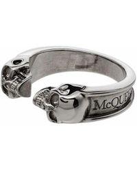 Alexander McQueen METALL RING - Mettallic