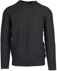 Emporio Armani Black Viscose Sweater