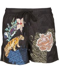Etro Polyester Trunks - Brown