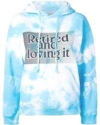 Ashley Williams Light Blue Cotton Sweatshirt
