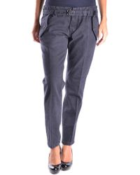 Mauro Grifoni - Blue Cotton Trousers - Lyst