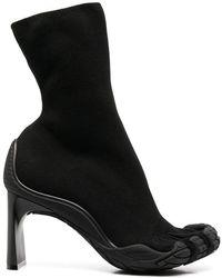 Balenciaga Polyamide Ankle Boots - Black