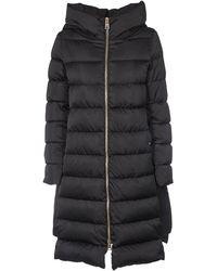 Herno Black Polyamide Coat