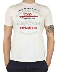 Parajumpers White Cotton T-shirt