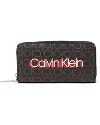 Calvin Klein Brown Polyurethane Wallet
