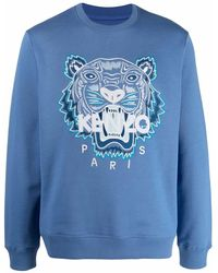 KENZO Sweatshirt mit Tiger-Logo - Blau