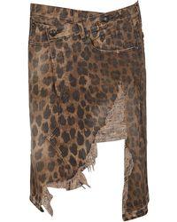 R13 Cotton Skirt - Brown