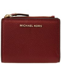 Michael Kors Burgundy Leather Wallet - Red