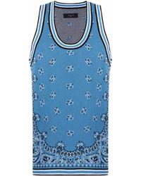Amiri Top mit Print - Blau