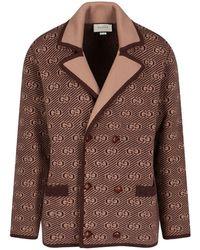 Gucci Wool Coat - Natural