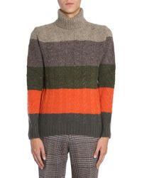 Etro Multicolor Wool Sweater - Gray