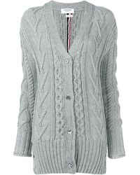 Thom Browne - Wool Cardigan - Lyst