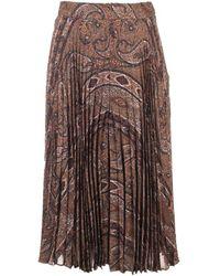 Celine Wool Skirt - Brown