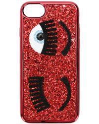 Chiara Ferragni Red Glitter Cover