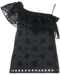 RED Valentino - Black Cotton Blouse - Lyst