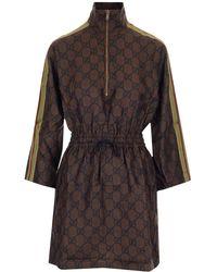 Gucci Silk Dress - Brown