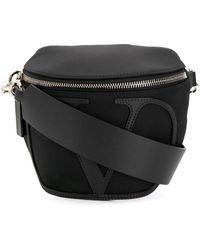 Valentino Black Leather Belt Bag