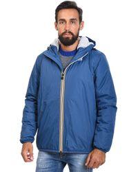 K-Way - Light Blue Polyamide Outerwear Jacket - Lyst