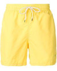 Ralph Lauren Yellow Polyester Trunks