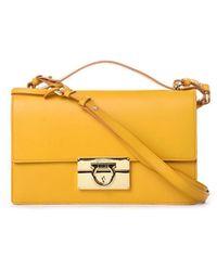 Ferragamo Yellow Leather Shoulder Bag