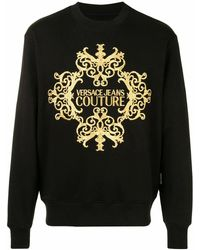 Versace Jeans Couture Cotton Sweatshirt - Black